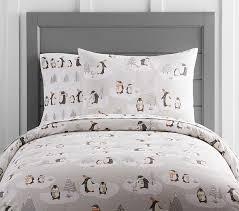 Penguin Comforter Sets Winter Penguin Duvet Cover Pottery Barn Kids