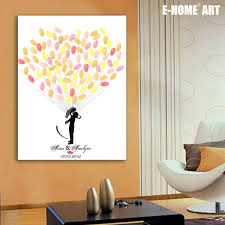 wedding gift diy fingerprint tree signature canvas painting wedding gift