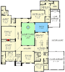 mediterranean floor plans with courtyard central courtyard home 36118tx architectural designs