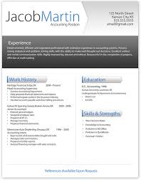 modern resume format attractive resume templates free