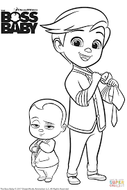 the boss baby and tim templeton coloring page free printable