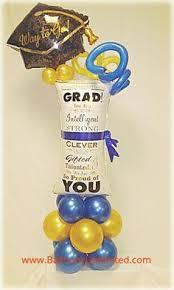 graduation balloon columns balloon decorations pinterest