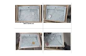 White Carrera Marble Bathroom - 27