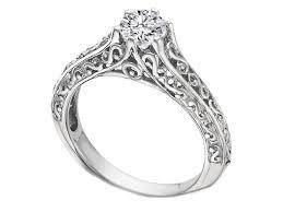 filigree engagement rings engagement ring filigree diamond engagement ring in 14k white