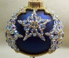 beaded ornament cover snow flurries ornament cover