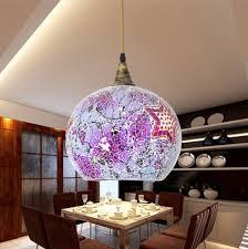 Large Glass Pendant Lights Purple Shade Large Pendant Lights