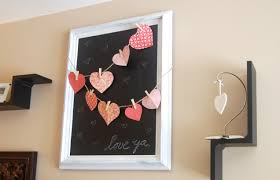 home decoration creative wall decor with valentines day decoration