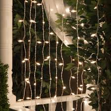 curtain lights 65 drops clear mini lights white wire yard envy