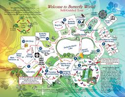 Fort Lauderdale Map Self Guided Tour Map U2013 Butterfly World