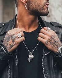 mens necklace style images Matt silver cross bunch 25 matt silver old english sovereign jpg
