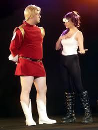 Futurama Halloween Costumes Cosplay Zapp Brannigan U0026 Leela Futurama Yad Craby Flickr