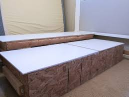 King Size Platform Bed Frame With Storage Plans by Bed Frames King Size Bed Frame Plans Free How To Build A Full