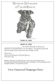 miniature schnauzers u0026 friends rescue donation gift card form