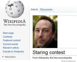 Wikipedia Donation Meme - beautiful wikipedia meme jimmy wales staring contest 80 skiparty