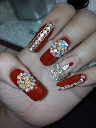 imagenes de uñas acrilicas con pedreria uñas estilo sinaloa color rojo youtube