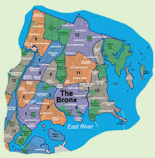 New York City Map Of Manhattan by Map Of Bronx Neighborhoods