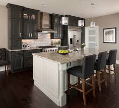 Painted Gray Kitchen Cabinets Gray Kitchen Cabinets Dark Wood Floors Kitchen