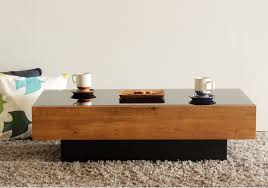 sofa center table glass top wooden center table with glass huonest rakuten global market