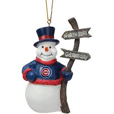 chicago cubs snowman with sign ornament mlbshop