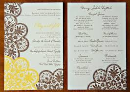 programs for a wedding ceremony wedding ceremony program reference for wedding decoration
