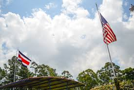 Costarican Flag Patriotism Abroad Loving One Culture While Embracing Another