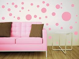 Decorations  Nice Looking Nursery Baby Room Design With White - Polka dot wall decals for kids rooms