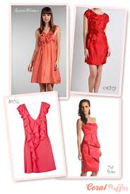 coral dresses for wedding guests coral bridesmaids coral wedding guest dresses onefabday com
