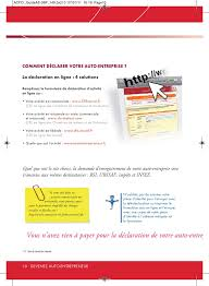 declaration auto entrepreneur chambre des metiers guide de l auto entrepreneur 2011