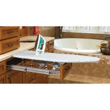 white ironing boards laundry room storage the home depot