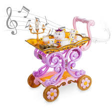 singing emoji beauty and the beast u0027 u0027be our guest u0027 u0027 singing tea cart play set