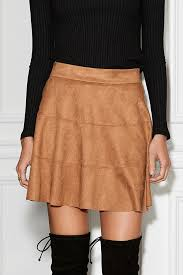 micro skirt micro suede waverly skirt david lerner
