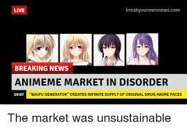 Breaking News Meme Generator - live breakyourownnewscom breaking news animeme market in disorder