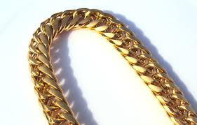 mens link necklace gold images Heavy mens 24k solid gold gf finish thick miami cuban link jpg