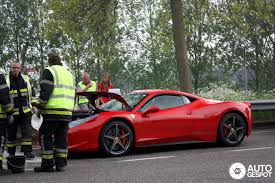 ferrari laferrari crash 458 italia involved at crash