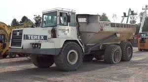 hooning a trashed terex 3066c rock truck youtube