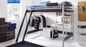 hochbetten für jugendzimmer schlafzimmer komplett mit metall hochbett und schreibtisch finn