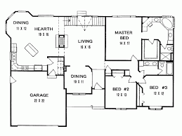 3 bedroom house plans ranch house plan three bedroom square style plans with open