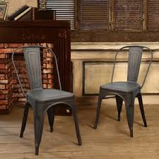 Tolix Dining Chairs Bronze Industrial Kitchen U0026 Dining Chairs You U0027ll Love Wayfair