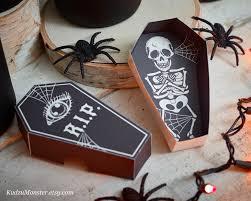 halloween skeleton printable halloween printable coffin party favor boxes diy containers