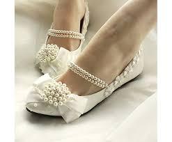 Wedding Shoes Amazon Amazon Com Getmorebeauty Women U0027s Mary Jane Flats Pearls Bows