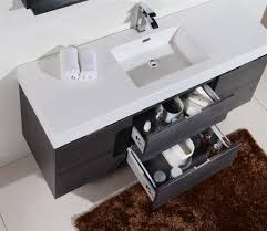 Modern Single Sink Bathroom Vanities by Bliss 60