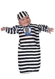 inmate halloween costume newborn baby prisoner bunting newborn prisoner uniform costume