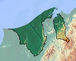 brunei map in world detailed topographical map of brunei brunei asia mapsland