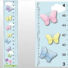 bugs n blooms wall d cor growth chart butterfly garden clouds sky