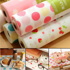Kitchen Cabinet Paper 300x30cm Polka Dots Shelf Contact Paper Cabinet Drawer Liner