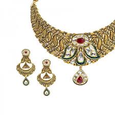 gold antique necklace sets images 22k gold antique kundan necklace set raj jewels jpg