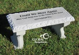 Engraved Benches Bricks Benches Garden Stakes Offered By Global Recognition Inc