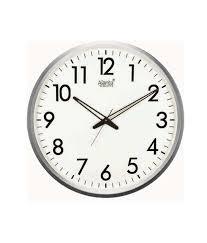 wall watch ajanta white round wall clock buy ajanta white round wall clock at