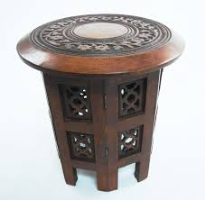 beautiful round brown white hand carved indian shesham wooden