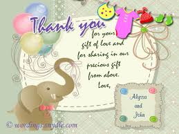 thank you notes for baby shower thank you messages for baby shower messages and gifts wordings